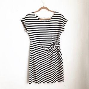 Anthropologie striped midi dress sz:S comfortable
